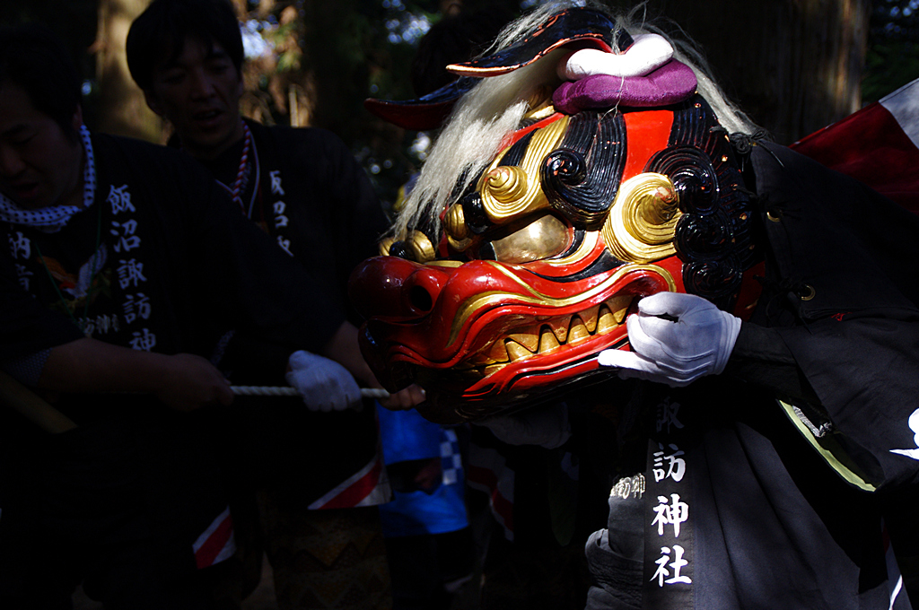 飯沼諏訪神社春祭り奉納音楽獅子舞