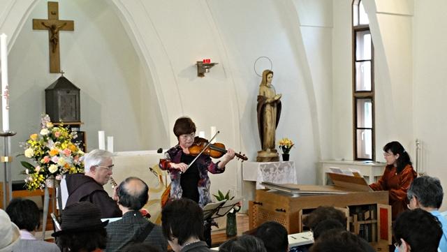 2014年4月27日:「パイプオルガンとヴァイオリンのコンサート」カトリック飯田教会聖堂