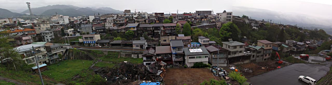 長野県飯田合同庁舎から見る、飯田市馬場町方面パノラマ