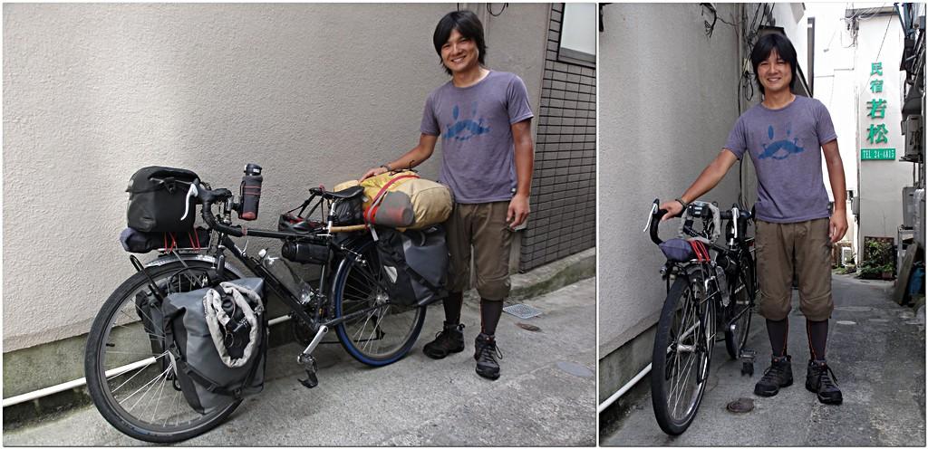 「ちょっとユーラシア横断してくる」のshimaさんと愛車のパナソニック製26inchツーリング