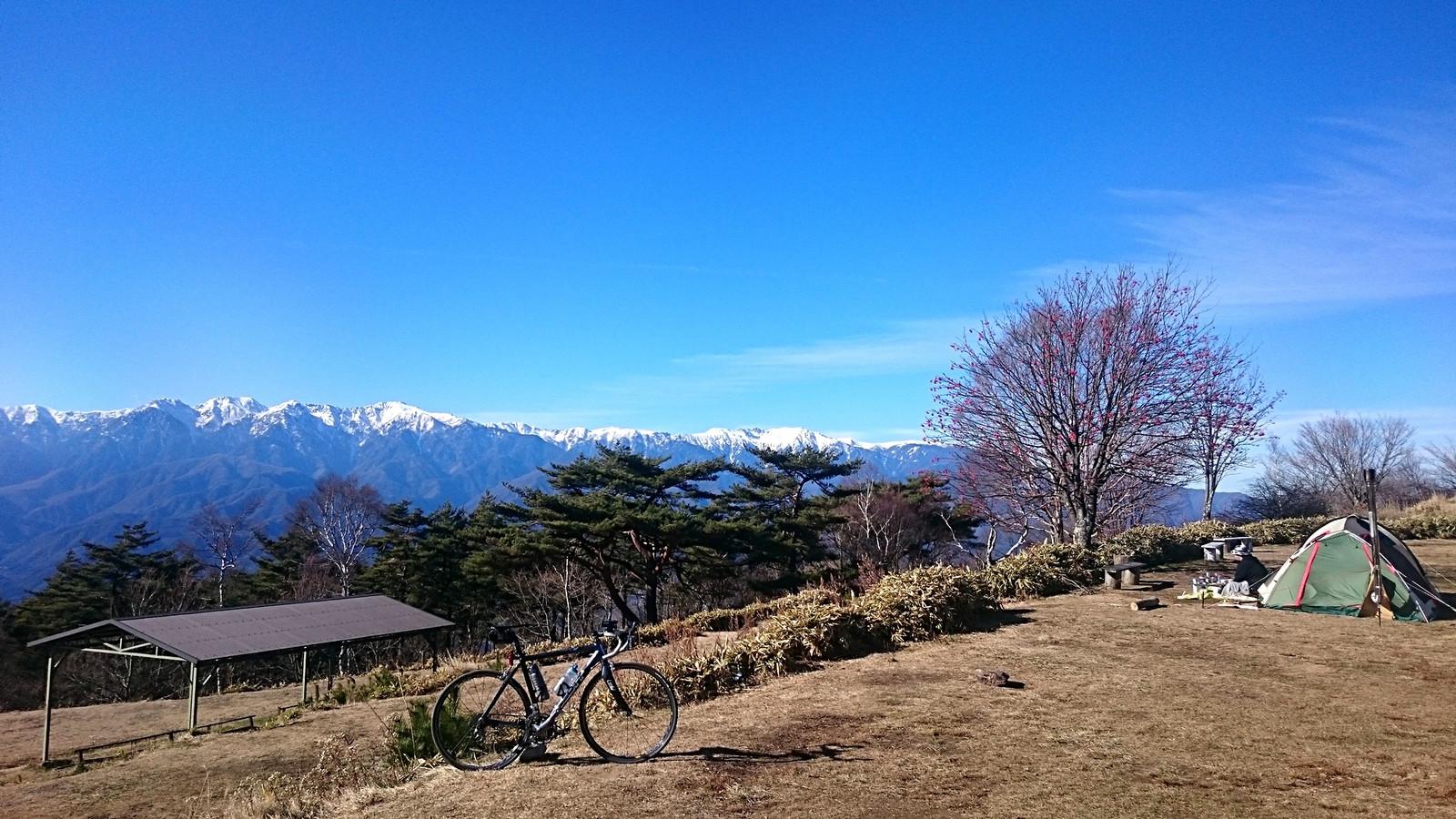 陣馬形山キャンプ場(2017年12月2日)