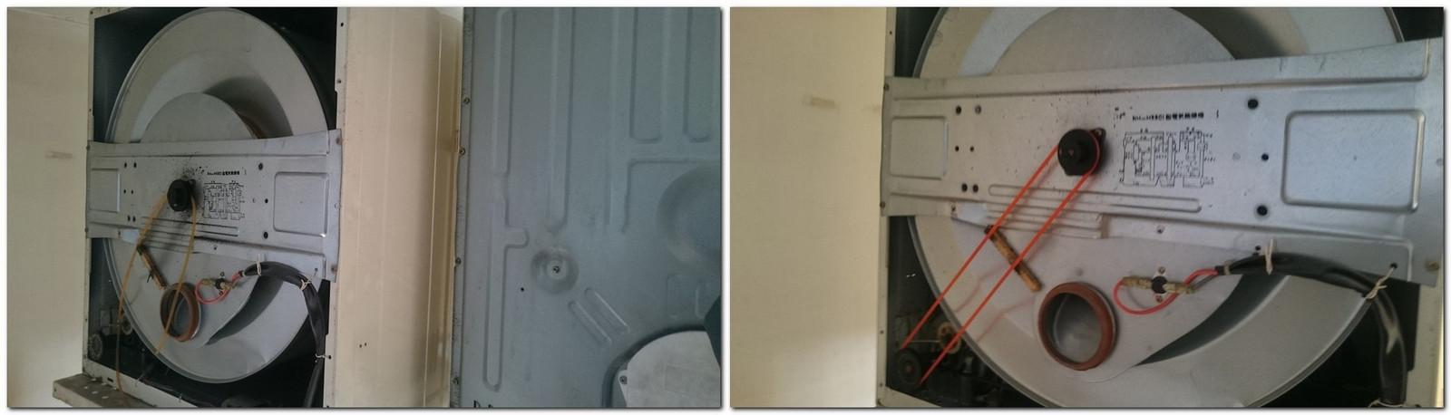 乾燥機のファンベルト交換