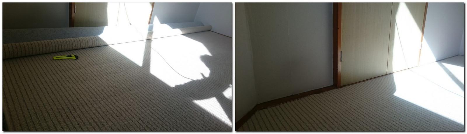 客室のカーペット替え
